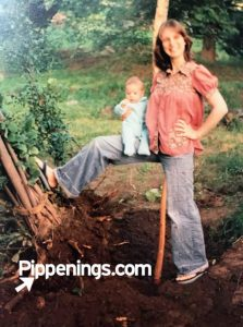 Pippi's mom removing trees from the yard