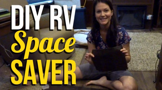 DIY RV Space Saving Cubby